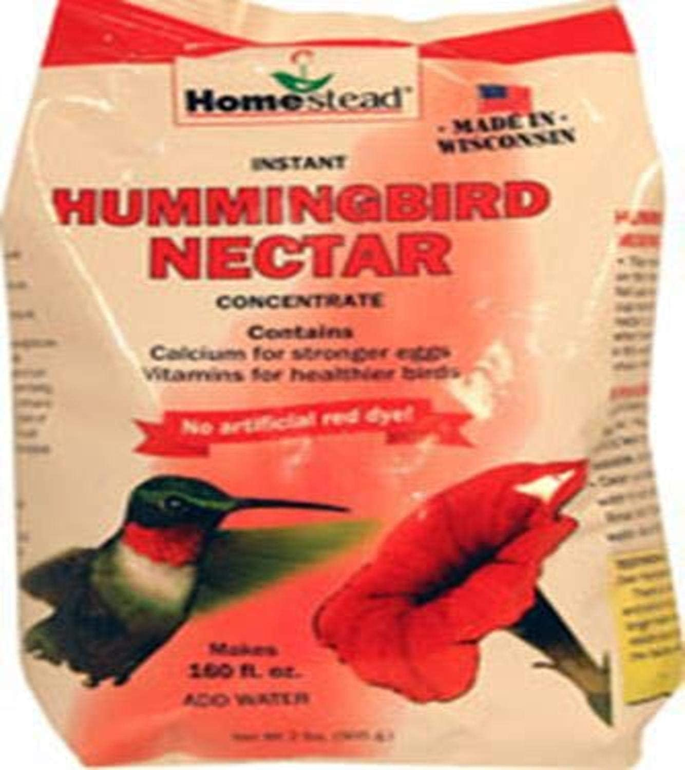 Homestead 4384 2-Pound Red Powder Concentrate Hummingbird Nectar