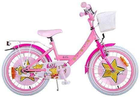 Lol Surprise Bici Bicicletta Bambina 18 Pollici Freno Anteriore Al Manubrio E Posteriore Contropedale Cestino Rosa 95 Assemblata