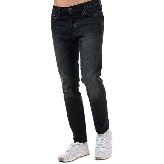 32bd69bcd763f9 Mens Jack Jones Mens Tim Original CR 102 Slim Fit Jean in Black - 28R