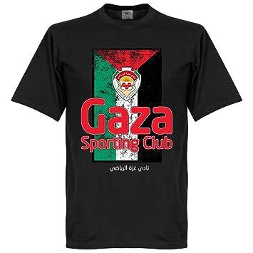 Sporting Club Gaza bandera camiseta - negro, Unisex, negro, XXXXL: Amazon.es: Deportes y aire libre