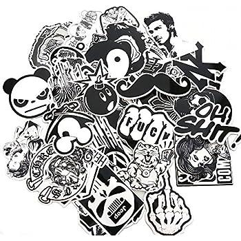 Evinis 60pcs random music film vinyl skateboard guitar travel case sticker lot pack decals