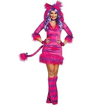 Dreamgirl Damen Kostum Grinsekatze Alice Im Wunderland Tier Katze