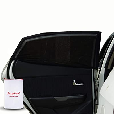 Cozybiub Premium 2 Pack Car Side Window Sun Shades Protects Baby,Kids from Sun Burn, Heats and UV Rays,Pets L Size Cover Windows Up to 44x23 Inch,Fits Small Medium and SUVS (Not Include RV): Baby