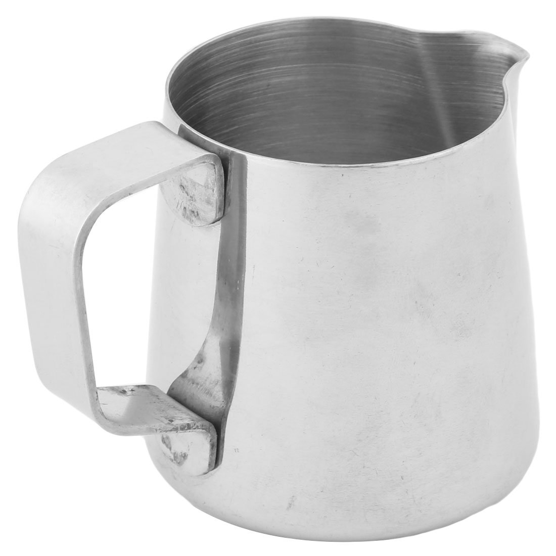 uxcell Metal Household Cafe Milk Tea Coffee Pouring Kettle Pot Holder 150ml Silver Tone a16122200ux0517