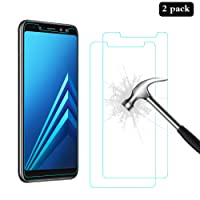 [2 Pack] Samsung Galaxy A8 2018 Screen Protector, AhaSky Glass Screen Protector, [Anti-Scratch] [Anti-Bubble] [Anti-Glare] Tempered Glass for Samsung A8