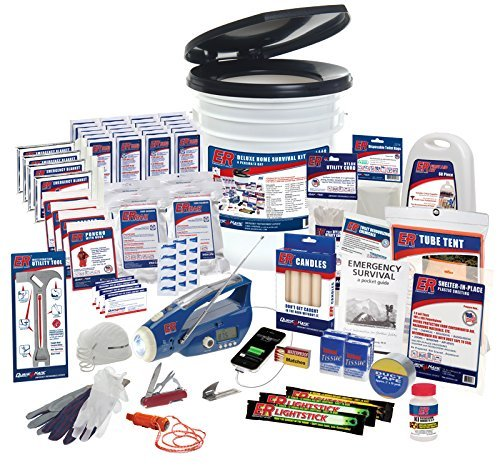 ER Emergency Ready 4 Person Ultimate Deluxe Survival Kit, ()