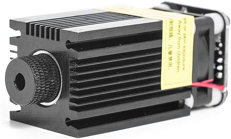 10w t/ête laser r/églable focale CC 12V module de gravure de t/ête laser 100-240V Module laser bleu de contr/ôle 450nm TTL PWM lunettes de protection pour machine de gravure laser DIY