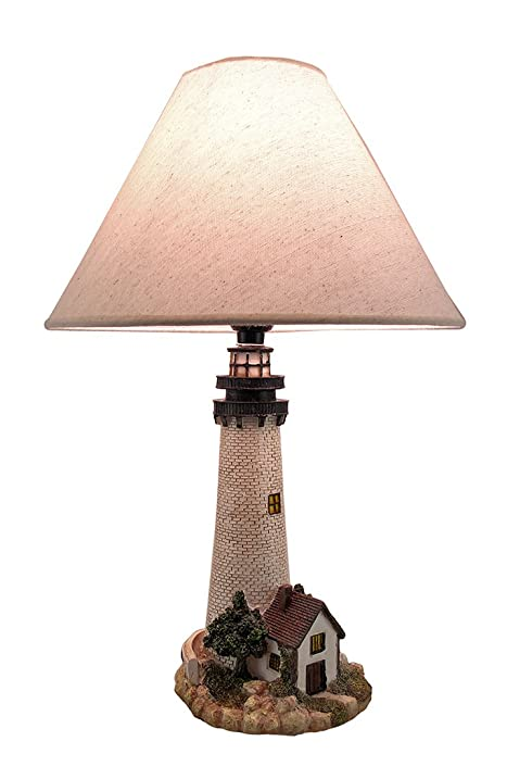 Metal resin table lamps house on the shore decorative lighthouse metal resin table lamps house on the shore decorative lighthouse table lamp 12 x 18 aloadofball Gallery