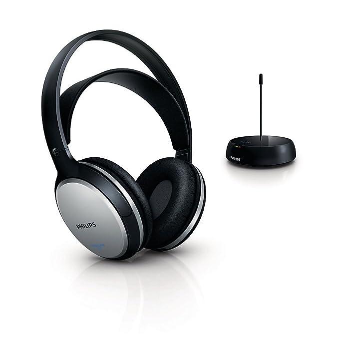 2fe830569 Philips SHC5100 Cuffie Hi-Fi FM Wireless Ricaricabili, Nero/Argento:  Amazon.it: Elettronica
