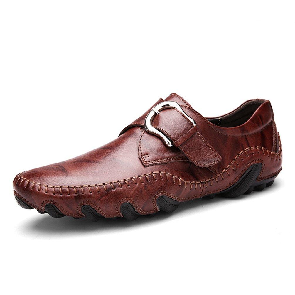 Hombres Mocasines Moda Suave Mocasines Alta Calidad Genuina Zapatos de Cuero Hombres Pisos