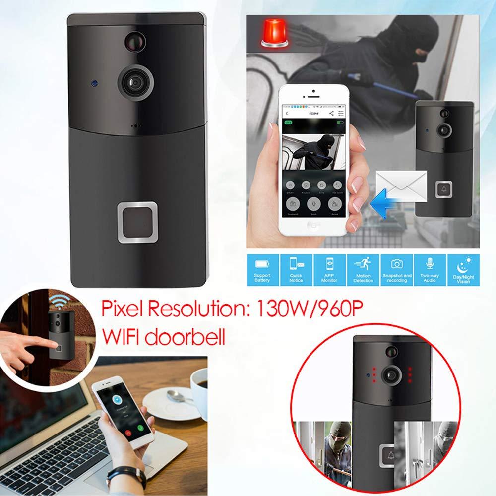 Rosepoem Wifi-Türklingel Für Video-Türklingel, 170 Grad 960P   130W Videoüberwachungs-Intercom-Türklingel Mit Nachtsicht