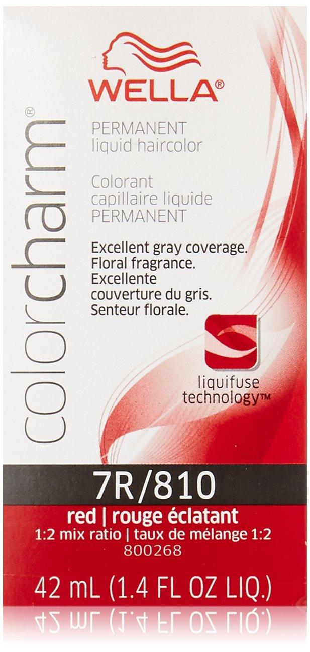Wella Charm Liquid Hair Color, 0810/7r Red Haircolor