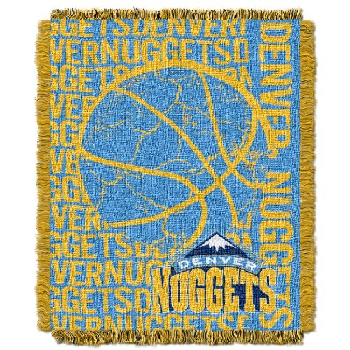 Northwest 019 NBA Denver Nuggets 48 x 60-Inch Double Play Jacquard Triple Woven Throw
