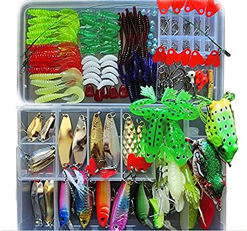 Fishing lure kit for freshwater saltwater trout bass for Amazon fishing gear