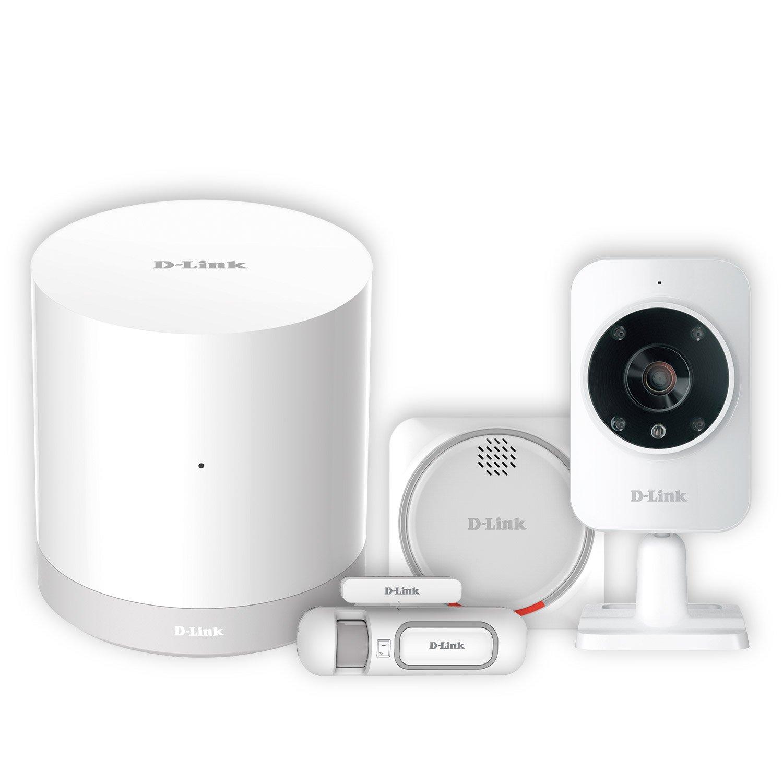 D-Link DCH-107KT - Kit Seguridad domótica WiFi Z-Wave, Sirena, Sensor de Apertura, hub WiFi Z-Wave y cámara de vigilancia, por App Gratuita mydlink ...