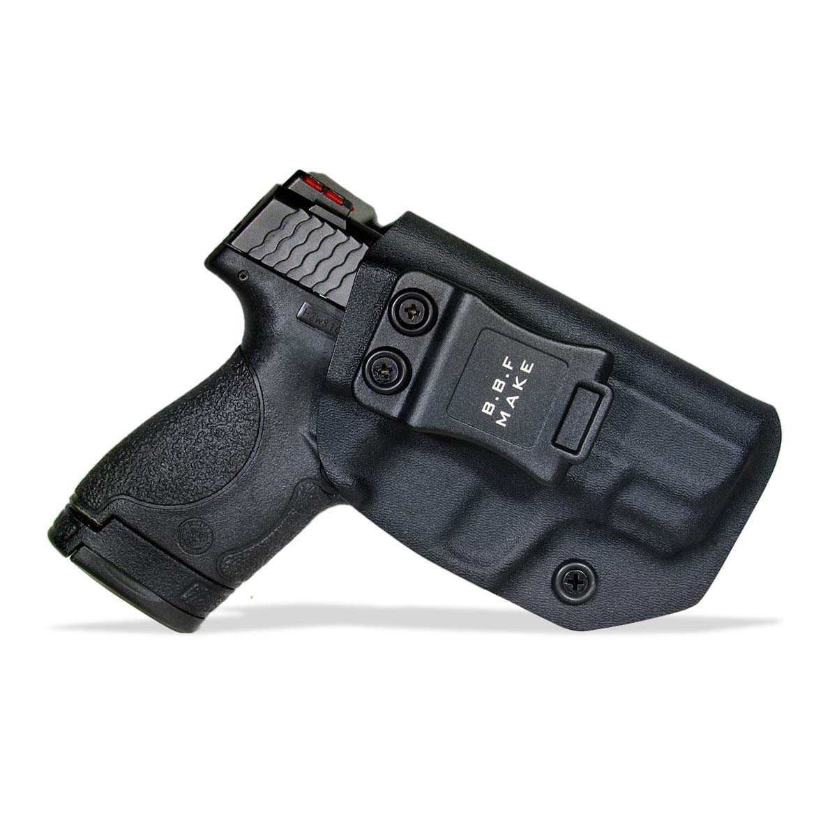 B.B.F Make IWB KYDEX Holster Fit: Smith & Wesson M&P Shield & Shield 2.0-9MM /.40 S&W | Retired Navy Owned Company | Inside Waistband | Adjustable Cant (Black, Left Hand Draw (IWB)) by B.B.F Make
