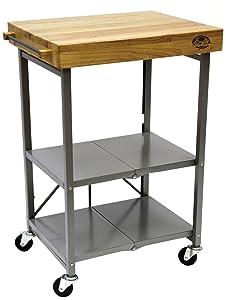 Bradley Smoker BTKITCART Foldable Kitchen Cart