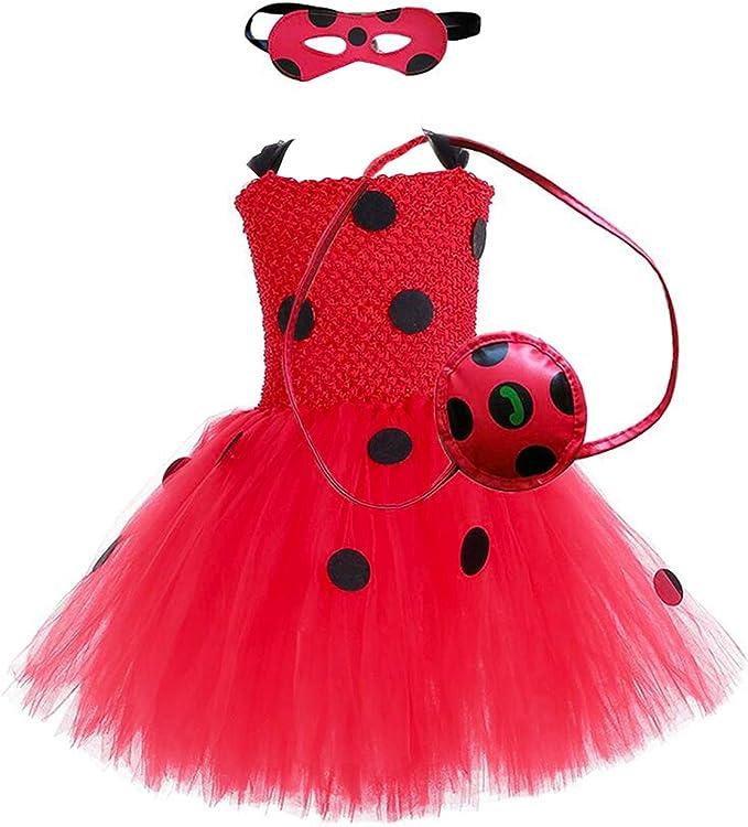 Amazon.com: AQTOPS Disfraz de mariquita milagrosa para niñas ...
