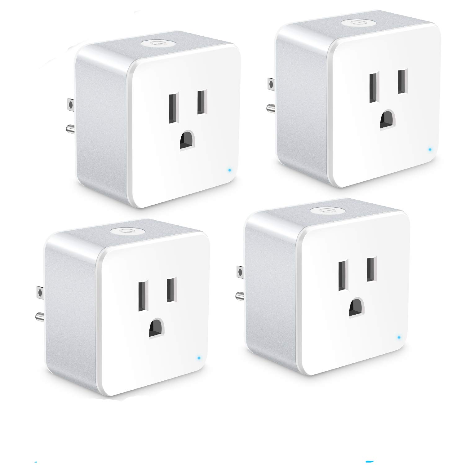 WiFi Smart Plug, Wsky Mini Smart Outlet 4 Pack, Compatible with Alexa & Google Home/IFTTT, APP Remote Control from Anywhere, No Hub Required, WiFi Enabled Voice Control Smart Socket