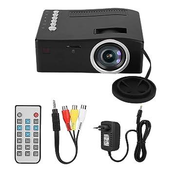 Denash 1080P Mini Proyector AV/HDMI/USB/TF Inicio Proyector ...