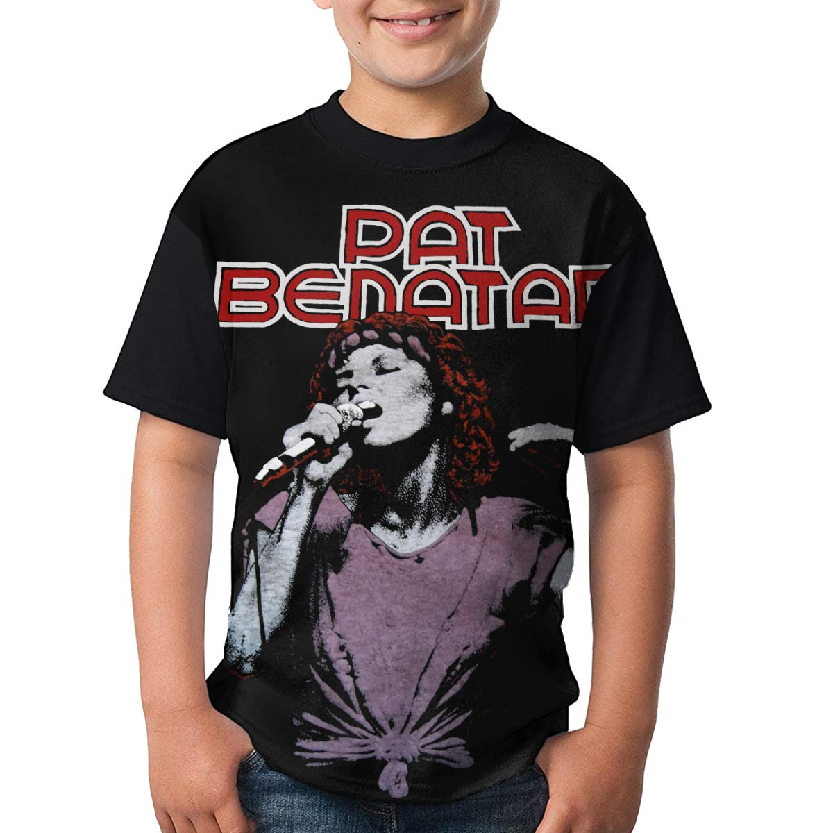 JustinLSullivan Pat Benatar T Shirt Youth Shirt Boys Teenager Round Neck Short Sleeve Tee