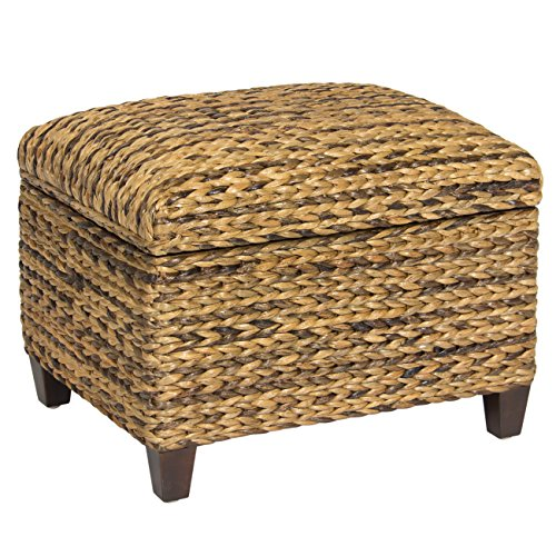 Best Choice Products Hand Woven Seagrass Storage Ottoman Home Furniture