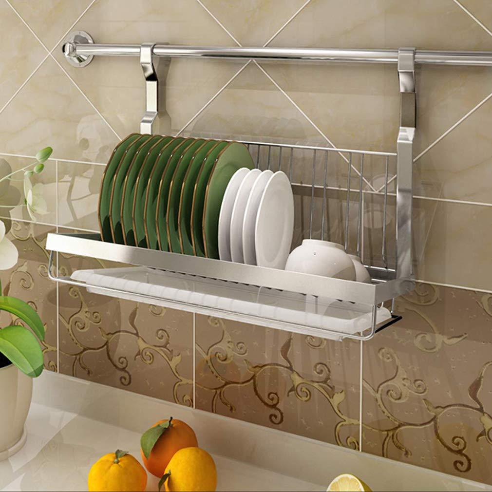 Montado en la pared Escurreplatos Acero inoxidable Articulado Lavavajillas,Con Bandeja de goteo Usado para Colgando Escurridor Estante de cocina Stoarge