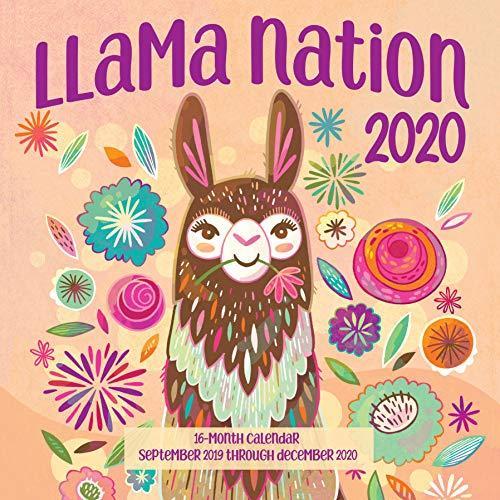 Llama Nation 2020: 16 Month Calendar  September 2019 Through December 2020