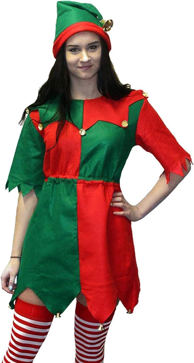 Amazon.com: Morph - Disfraz de elfo de Navidad para mujer, M ...