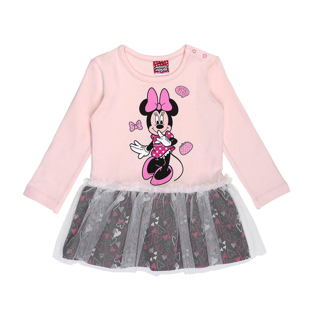 Disney Ragazze Minnie Mouse Vestito, Rosa