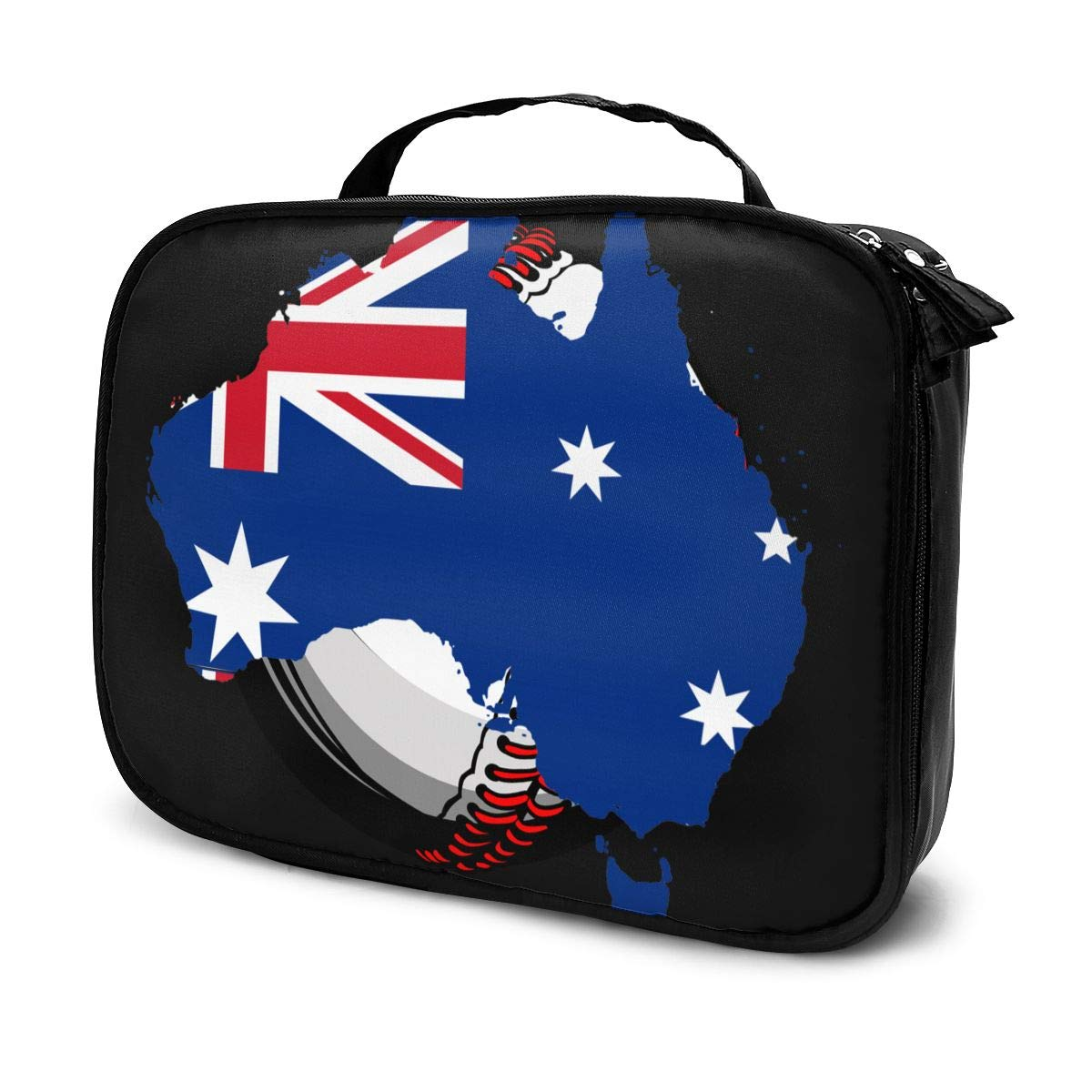 Fashion Makeup Cosmetic Case Clutch Bag, Flag Of Australia Cosmetic Train Case Organizer, Luggage Pouch, Multifunction Tote Bag Makeup Pouch For Women Girls