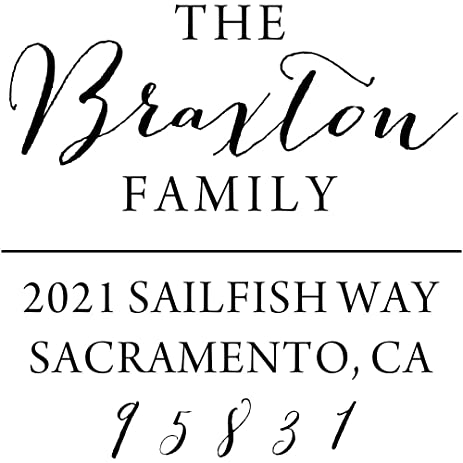 amazon com braxton square return address stamp custom family