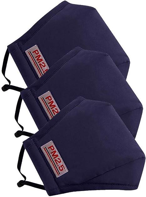 Imagen deLazzgirl Reutilizable y Lavable con Carbón Activado Filtro Antipolvo Antivaho Actividades al aire libre Pack 3 unidades