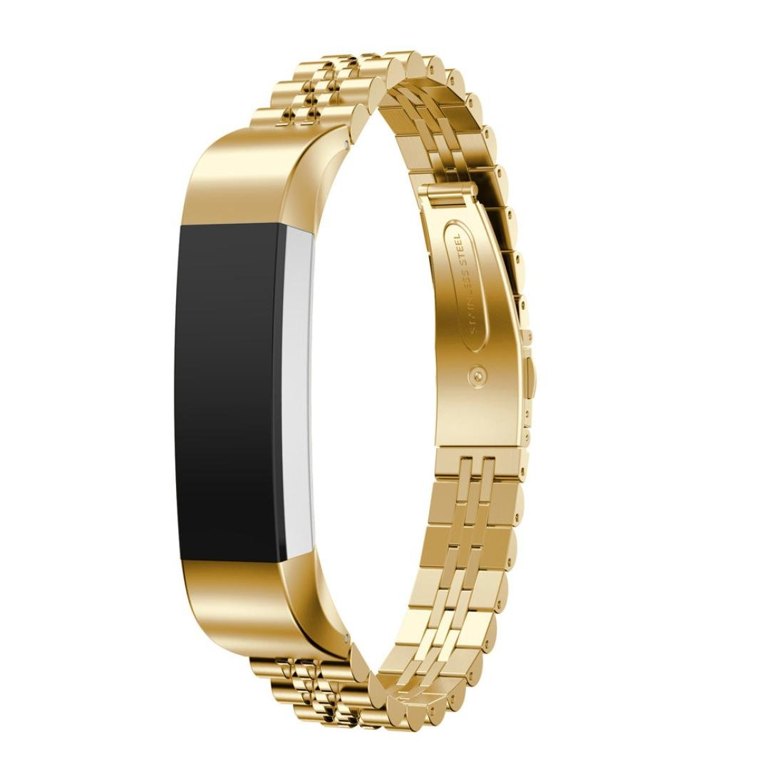 For Fitbit Alta HR and Alta Bands, Gotd Replacement Accessories Bracelet Band Stainless Steel Smart Watch Strap for Fitbit Alta HR , for Fitbit Alta (Gold)