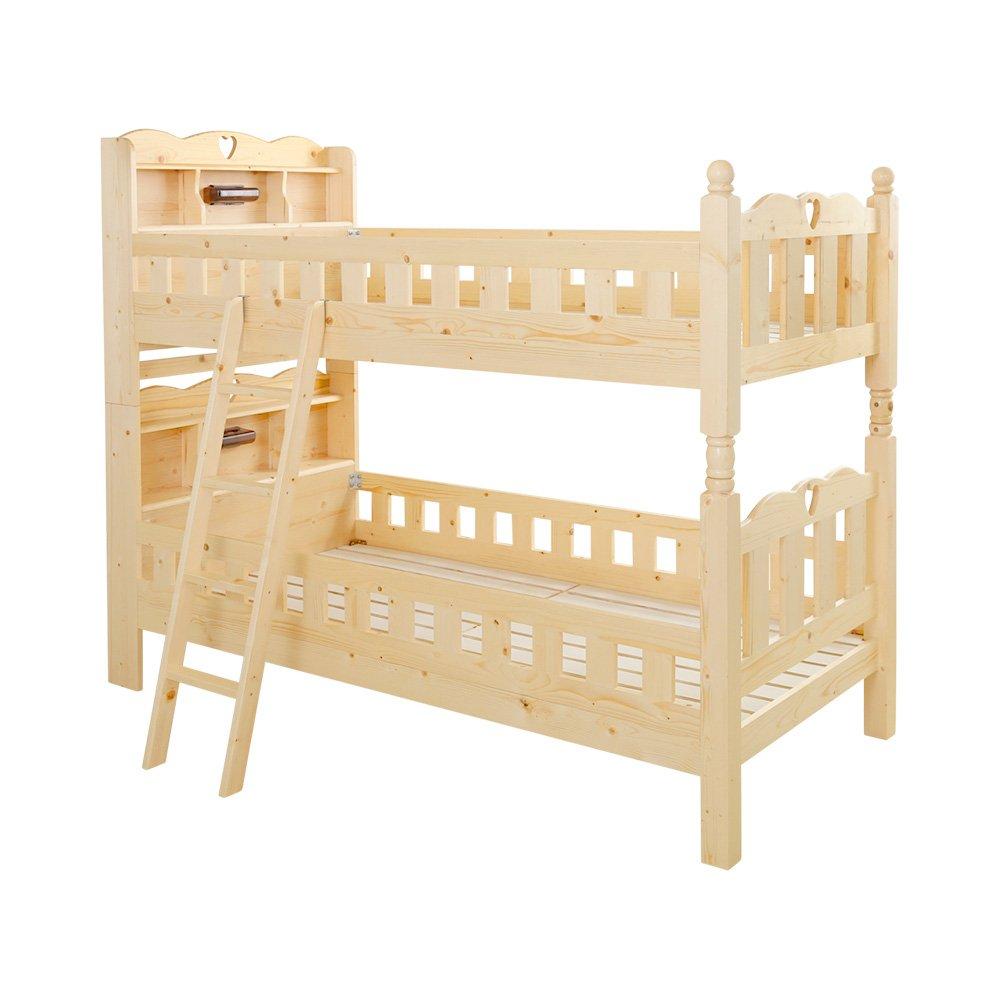 耐震仕様のすのこ2段ベッド【Tasso-タッソ-】(ベッド すのこ 2段)ナチュラル B01DK3TRMA ナチュラル