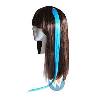 Amazon 22 clip in straight hair extension light blue beauty 22quot clip in straight hair extension light blue pmusecretfo Images