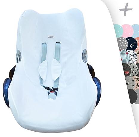 JANABEBE Funda para Maxi Cosi y sillas de coche grupo 0 (White)