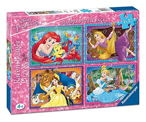 Disney Princesses-Bumper Pack, Puzzles, 4X 42Pieces (Ravensburger 06857)