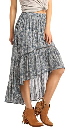 Rock and Roll Cowgirl Womens Hi-Lo Skirt 69-1447: Amazon.es: Ropa ...