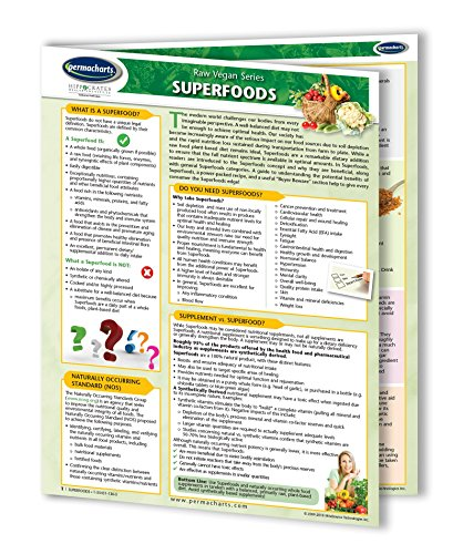 Price comparison product image Superfoods Guide Raw Living Foods Guide - Vegan Quick Reference Guide by Permacharts