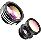 Mpow iPhone Lens,3 in 1 Clip-On Supreme Fisheye Lens, 0.67X Wide Angle,10X Macro Lens kit for iPhone7/6s/6Plus,iOS &Android Smartphones