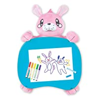 Deals on Crayola Travel Lap Desk with Storage, Bunny Stuffed Animal