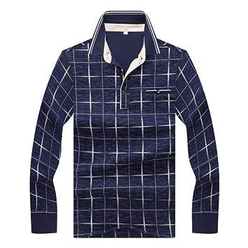 NISHIPANGZI Hombres Camiseta Polo Manga Larga Nuevo Otoño Invierno ...