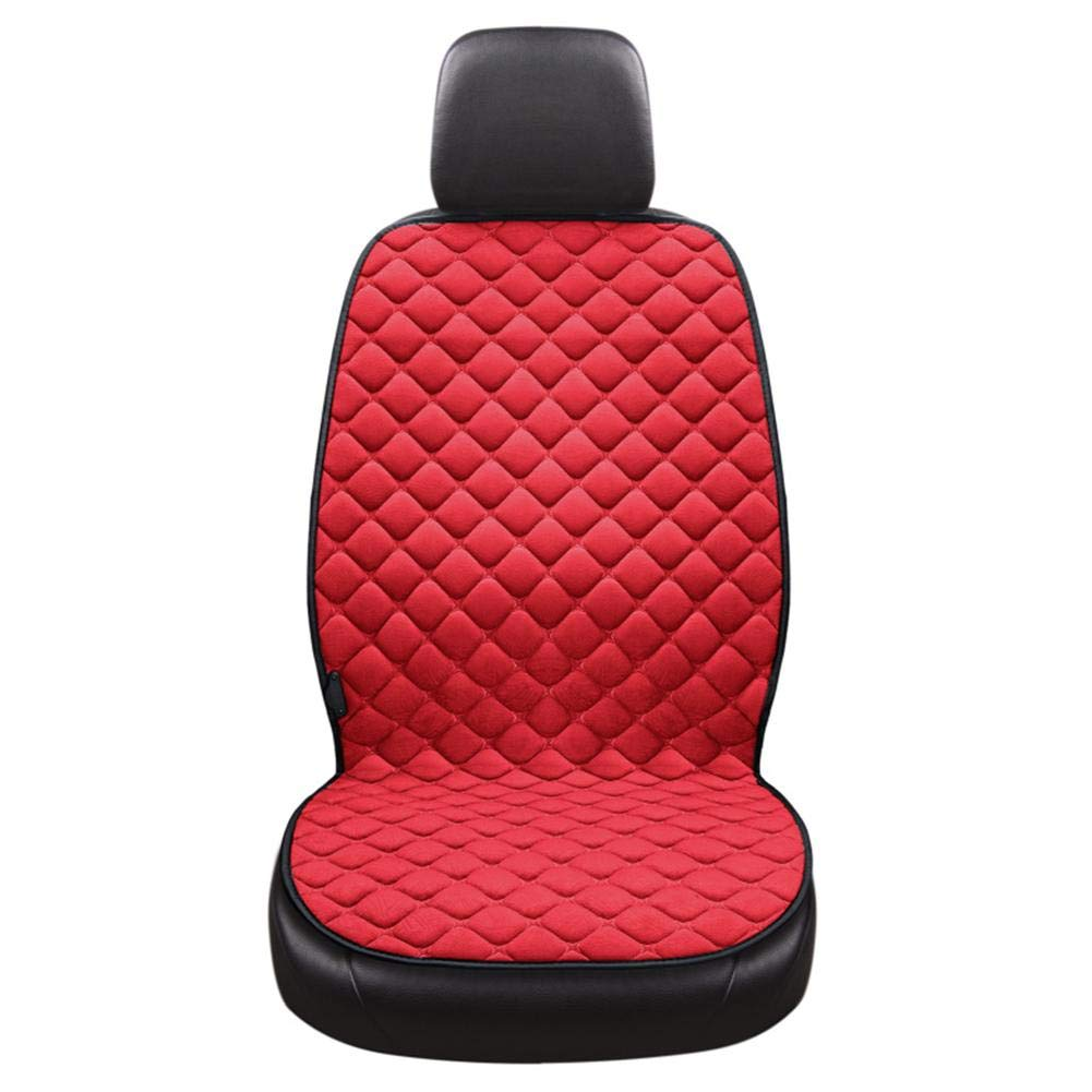 Ridecle Car Heating Cushion 12V Car Winter Warm Plush Car Mat Car Universal Electric Heating Seat Cushion Adjustable Winter Driving Massage Chair Heating Car Seat Pad Hot Cover Hot Warmer For Vehicle Ridecle®
