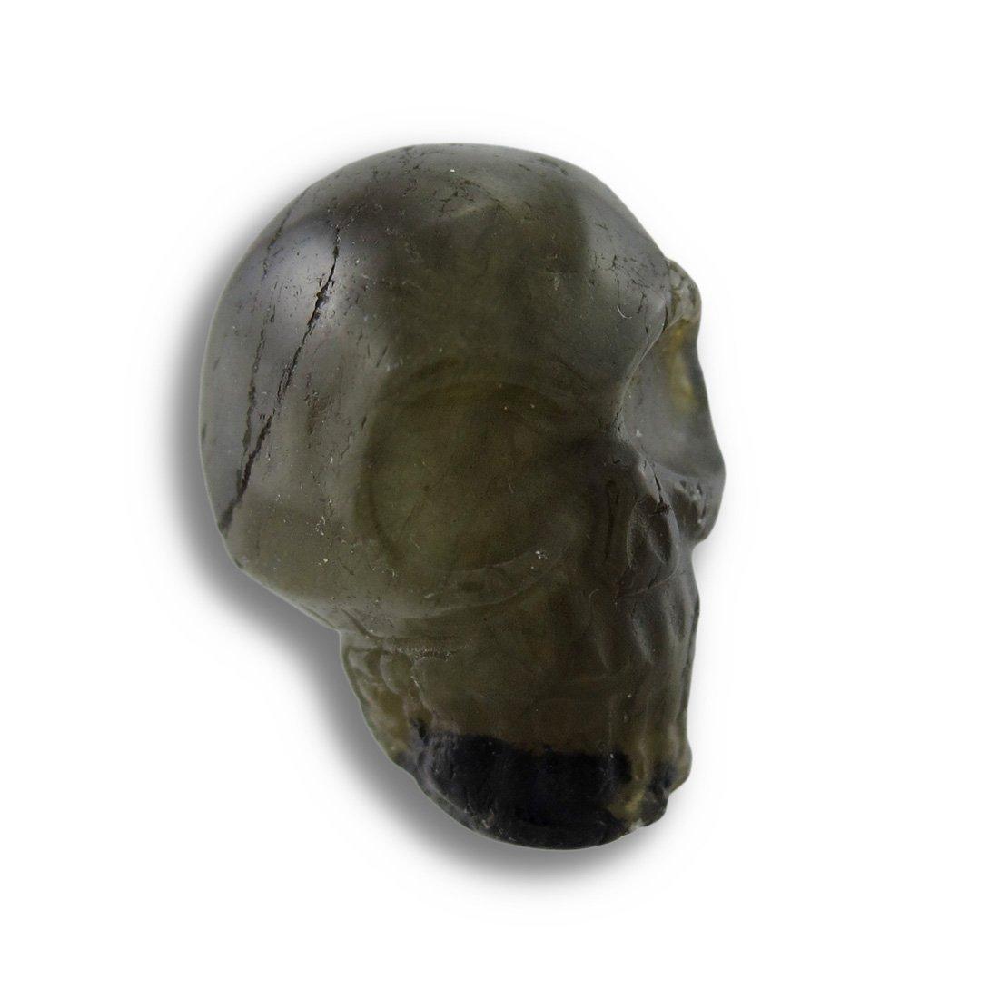 Things2Die4 Acrylic Loose Gemstones Beautiful Carved Labradorite Gemstone Skull 25Mm 1 Inch Natural