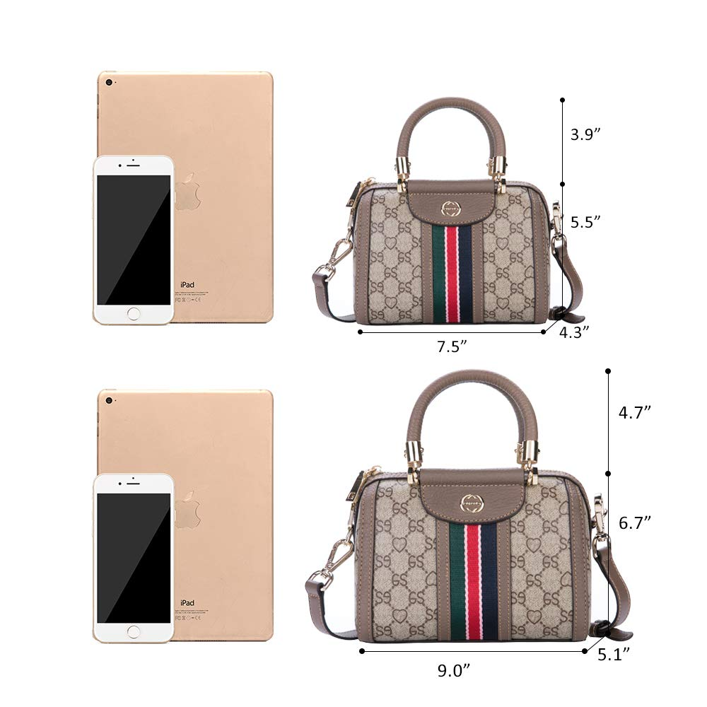 9695b3286a4d LeDuruo Mini Crossbody Bags For Women Small Top Handle Handbags Tote Bags  With Zipper