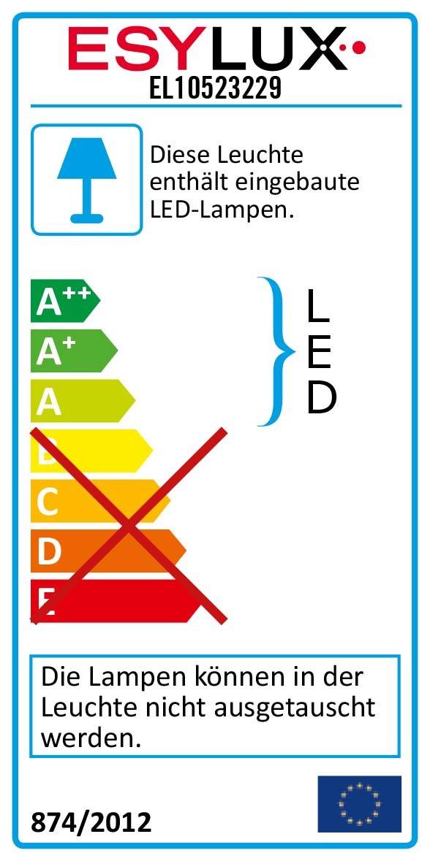 ESYLUX LED-Strahler 12W 5000K m.Ausleger OFL 120 LED 5K: Amazon.co ...