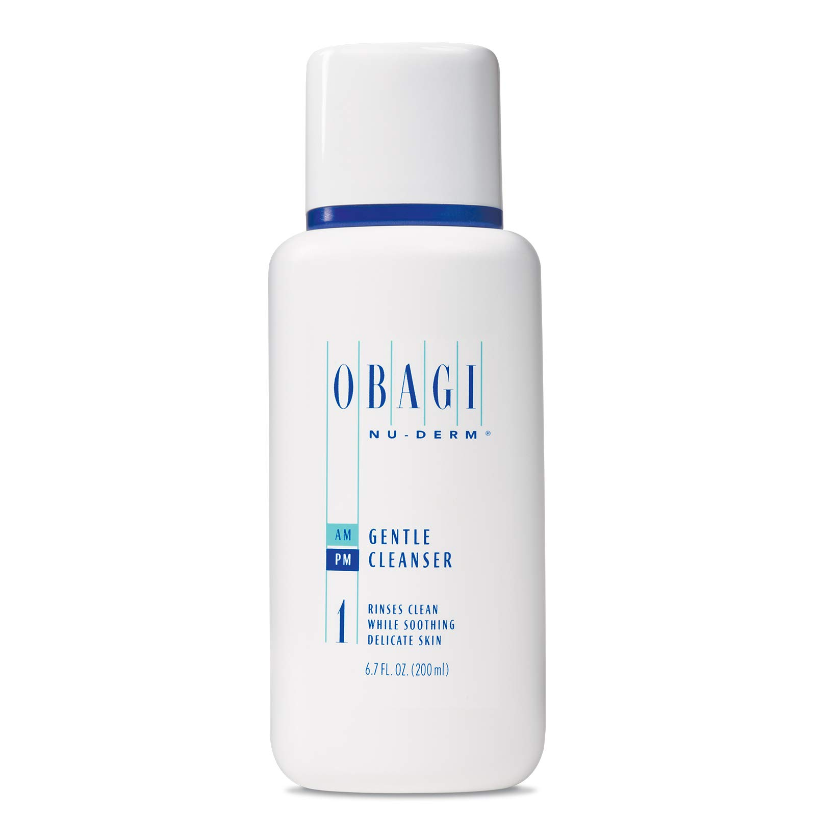 Obagi Medical Nu-Derm Gentle Face Cleanser for Normal to Dry Skin, Daily Facial Cleanser Gently Removes Dirt, Oil, Makeup, and impurities, 6.7 Fl Oz Pack of 1