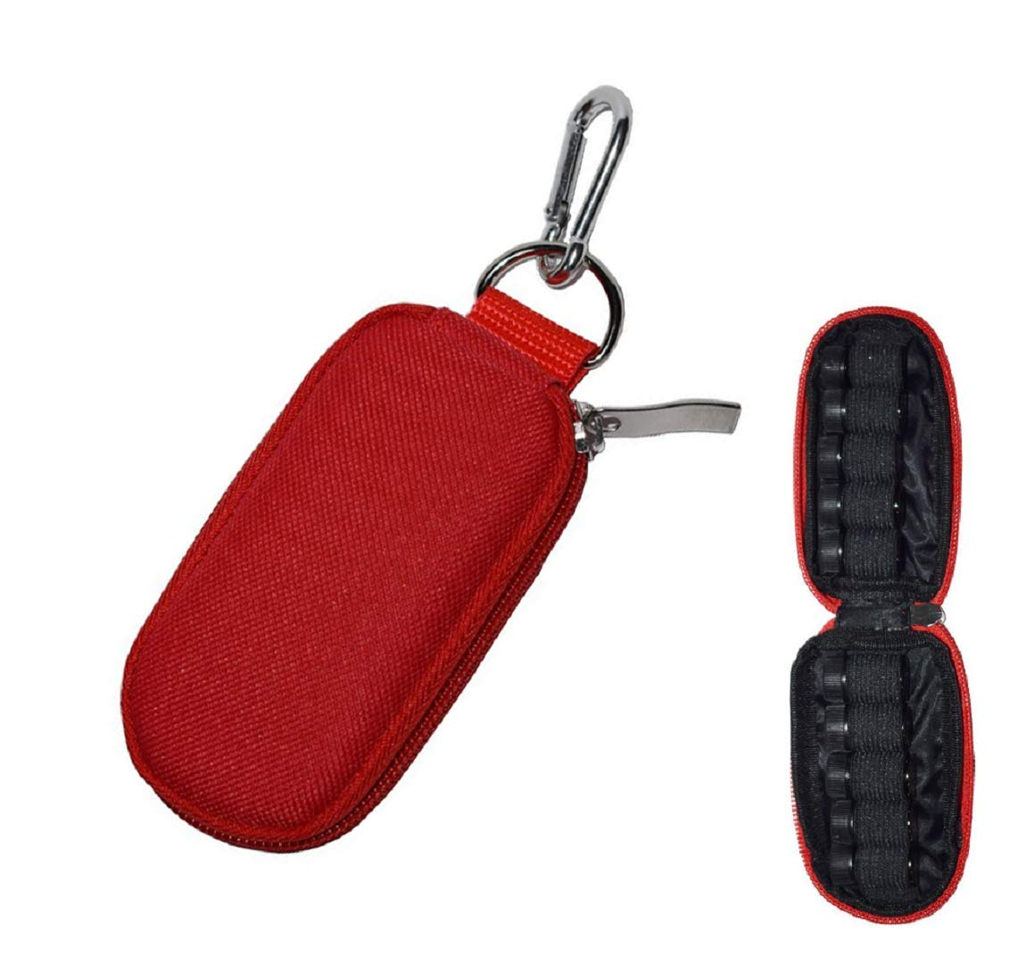 Mini Carrying Bag Keychain Essential Oil Carrying Case for Holds 10 Bottles 2ml&3ml for Travel,Home (Purple)