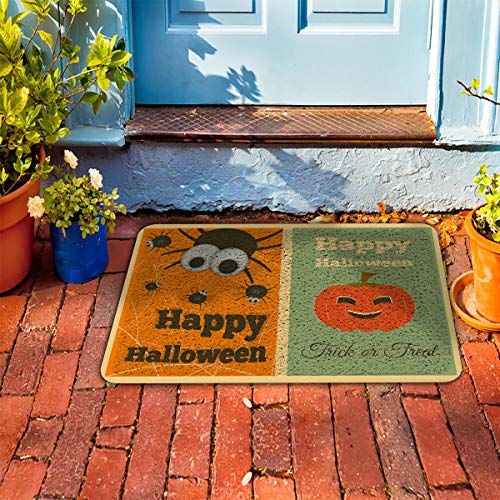 Prime Leader Soft Outdoor Indoor Doormats Absorbs Mud Carpet- Happy Halloween Trick or Treat 18
